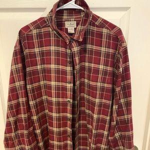 LL Bean Flannel Button Down